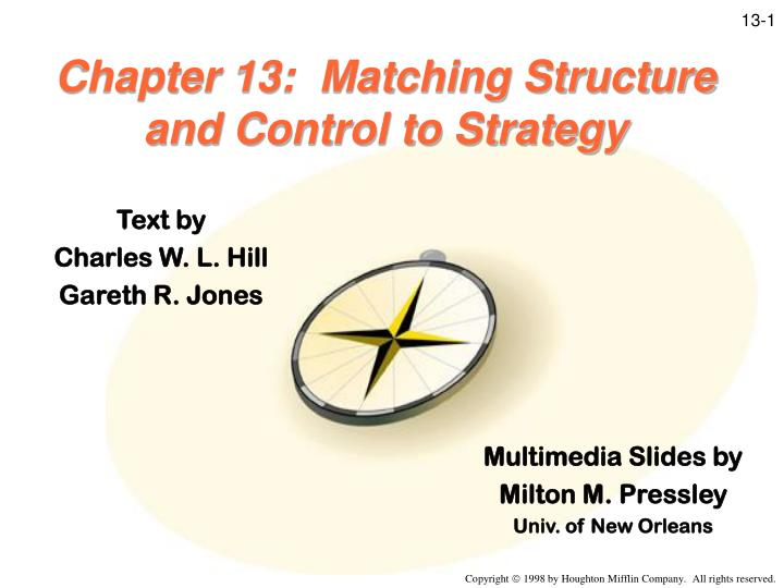 chapter 13 matching structure and control to strategy n.