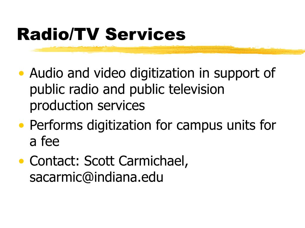 Radio/TV Services