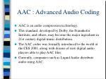 aac advanced audio coding