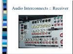 audio interconnects receiver