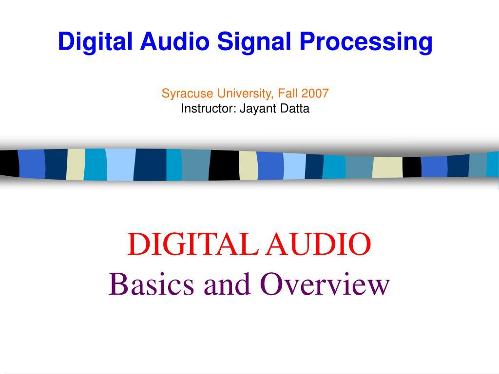 digital audio basics and overview l.