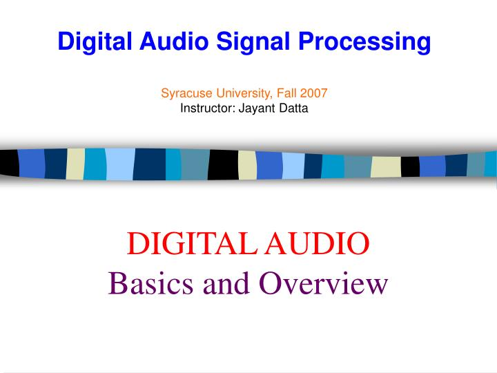 digital audio basics and overview n.