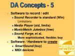 da concepts 5