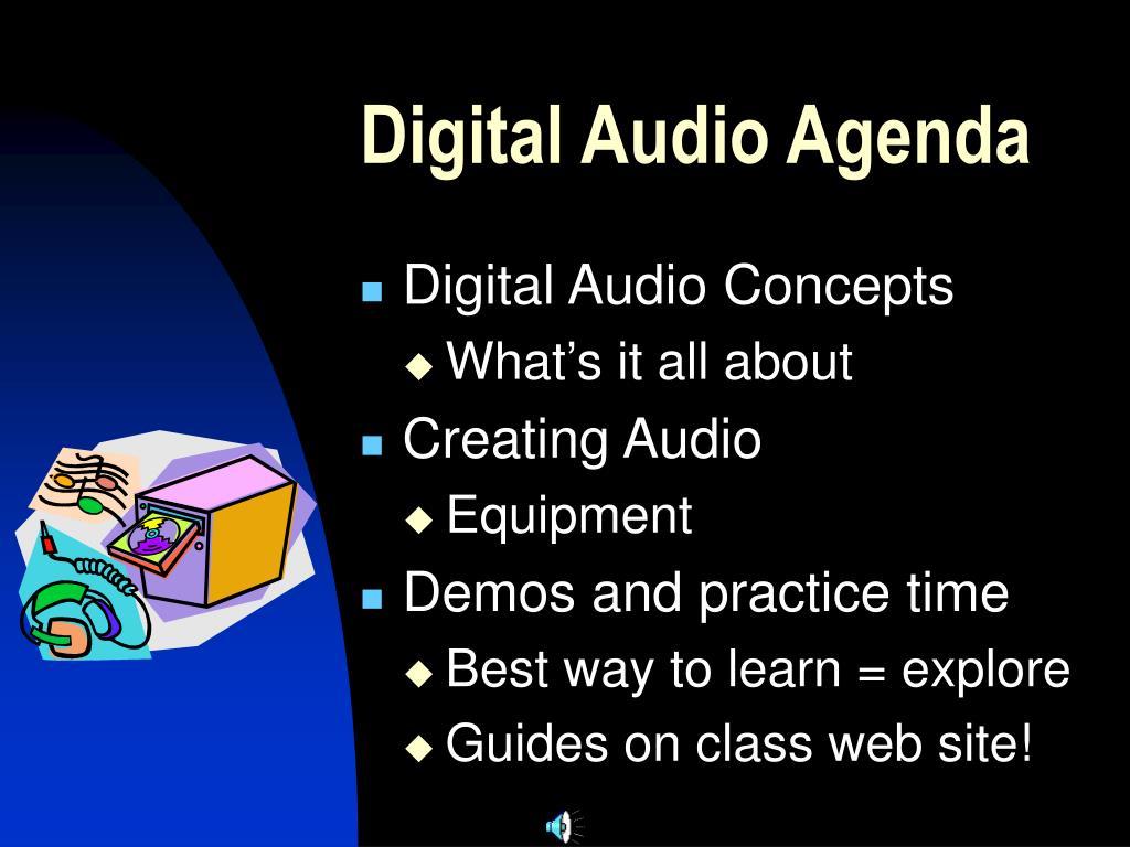 digital audio agenda l.