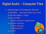 digital audio computer files