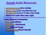 sample audio resources
