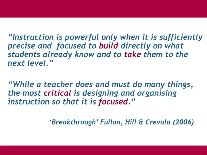 """""""Instruction is powerful only when it is sufficiently"""