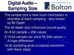 digital audio sampling size