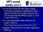 mp3 sound quality cont 2