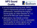 mp3 sound quality