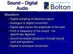 sound digital audio
