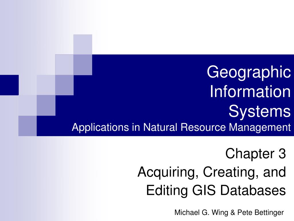 geographic information systems applications in natural resource management l.