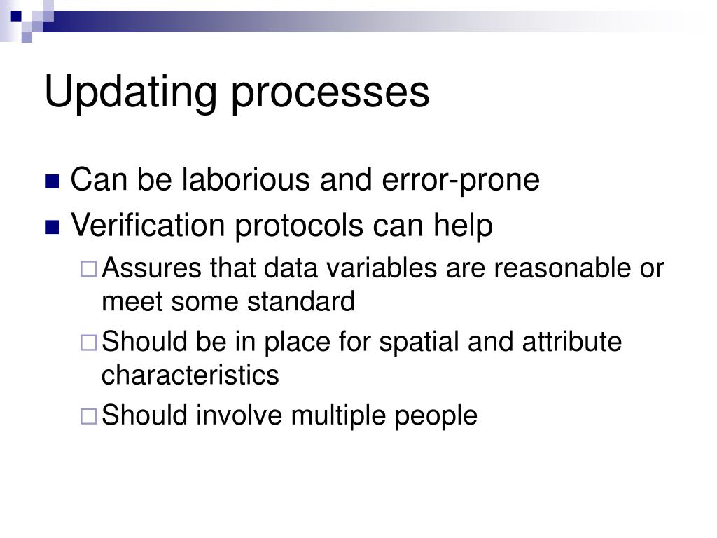 Updating processes