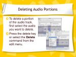 deleting audio portions