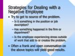 strategies for dealing with a negative employee