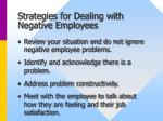 strategies for dealing with negative employees