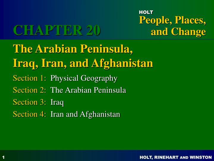 the arabian peninsula iraq iran and afghanistan n.