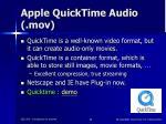 apple quicktime audio mov