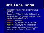 mpeg mpg mpeg