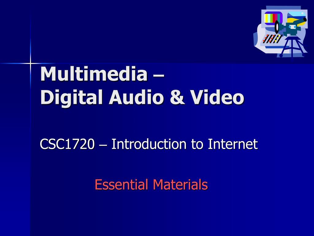 multimedia digital audio video l.