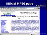 official mpeg page