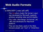web audio formats