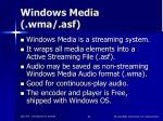 windows media wma asf