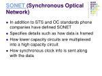 sonet synchronous optical network