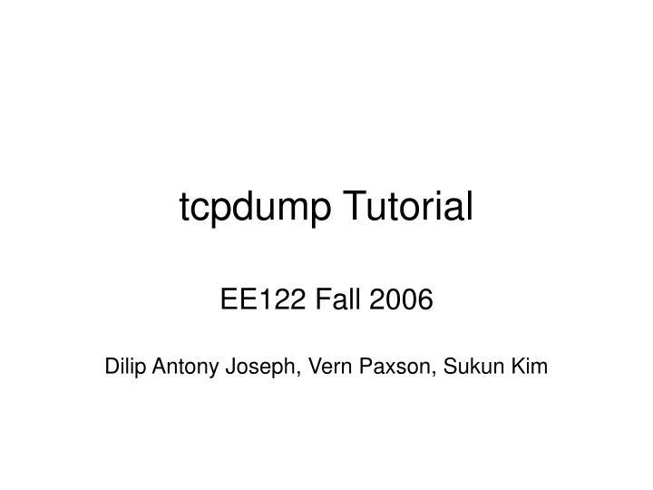 tcpdump tutorial n.