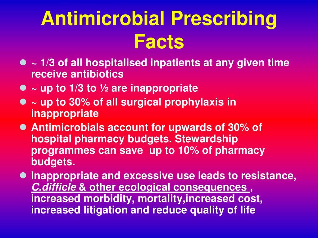 Antimicrobial Prescribing Facts