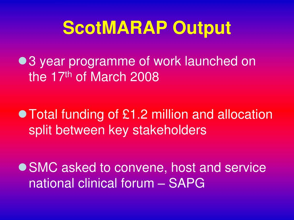 ScotMARAP Output