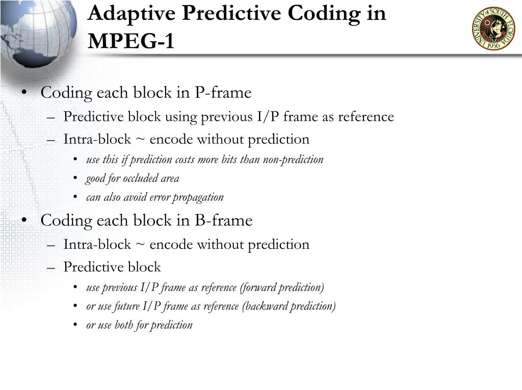 Adaptive Predictive Coding in
