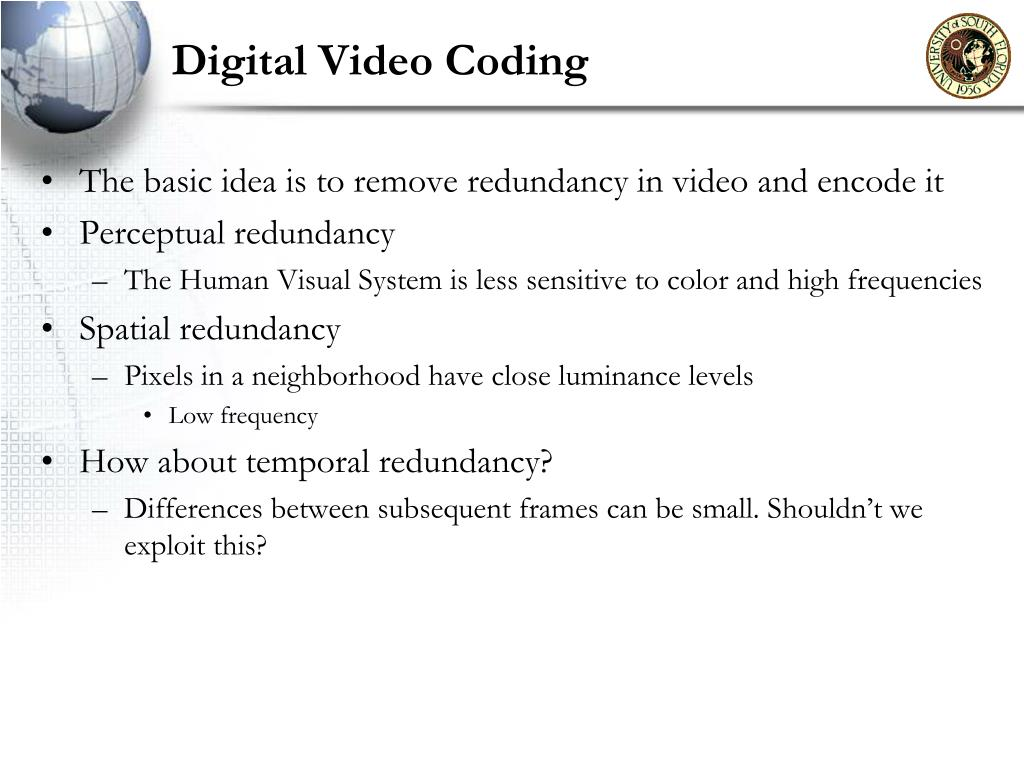 Digital Video Coding