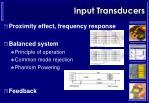 input transducers5