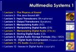 multimedia systems 1