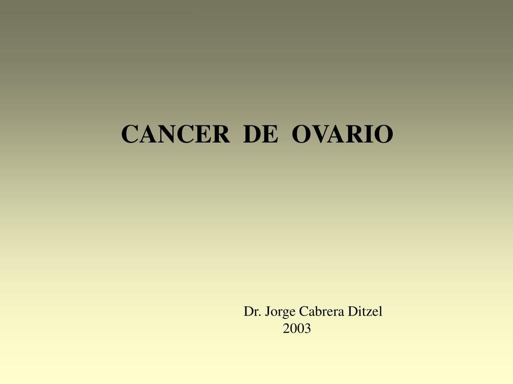 cancer epitelial de ovario ppt