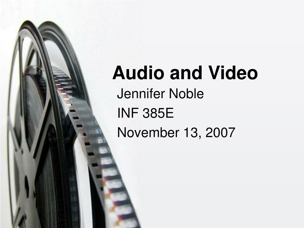 audio and video l.