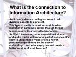 what is the connection to information architecture
