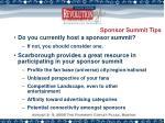 sponsor summit tips