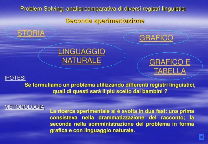 Ppt problem solving analisi comparativa di diversi for Analisi grammaticale di diversi