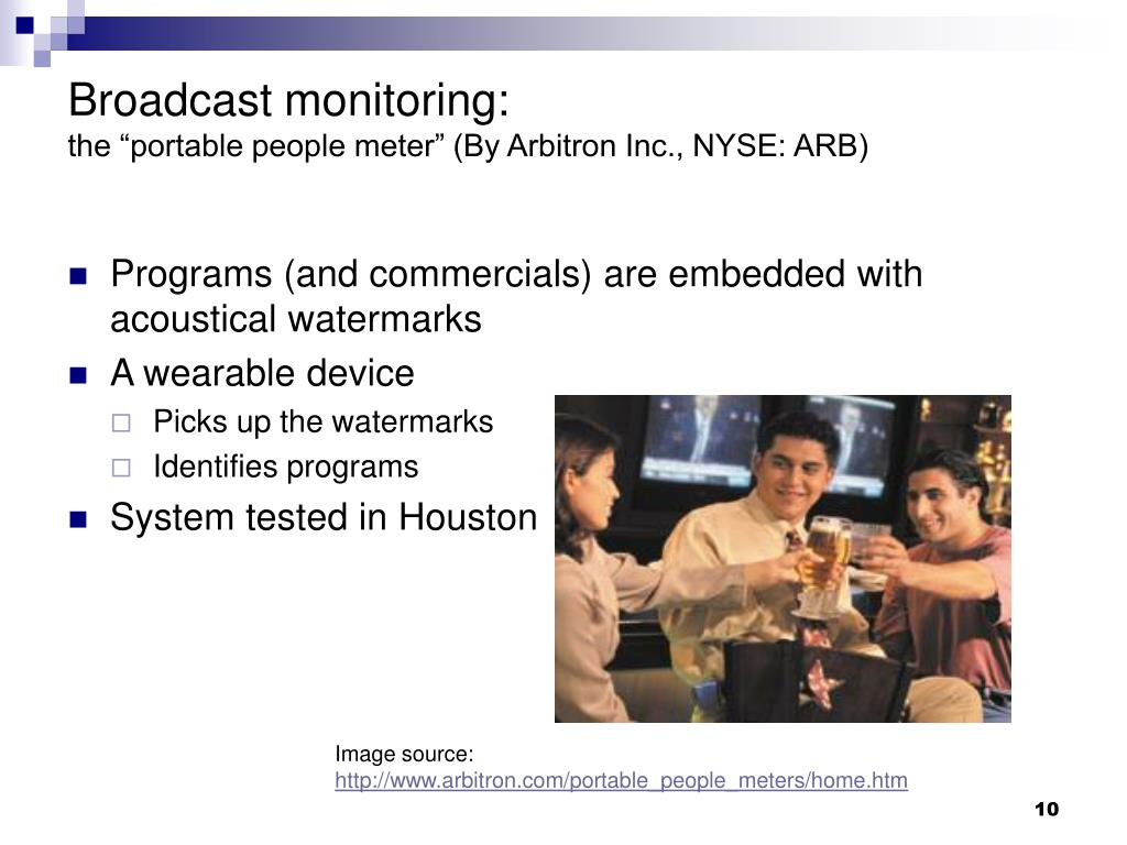 Broadcast monitoring: