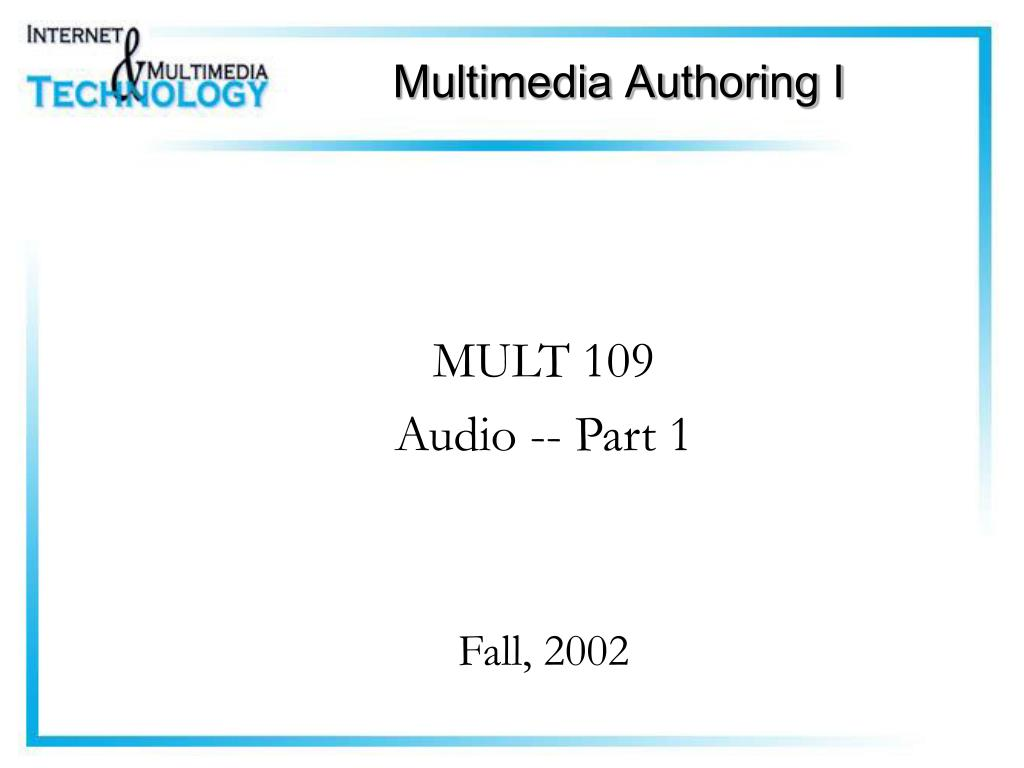 multimedia authoring i l.