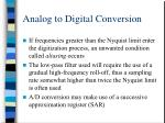 analog to digital conversion11