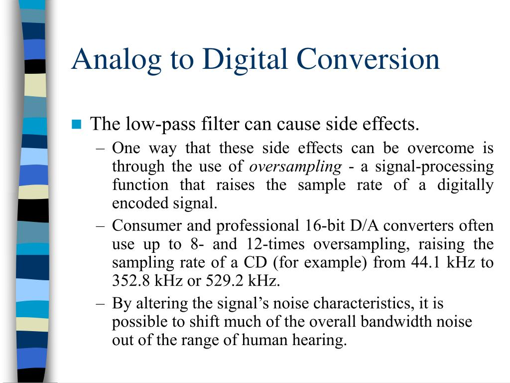 analog to digital conversion of audio essay