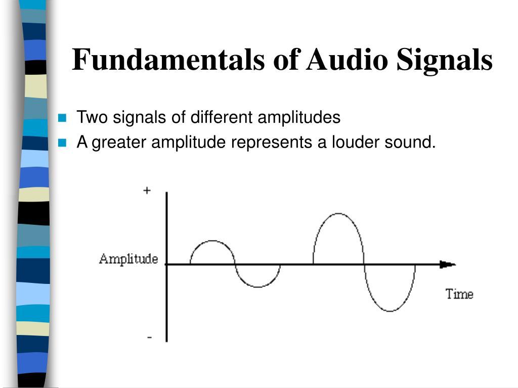 fundamentals of audio signals l.