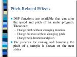 pitch related effects