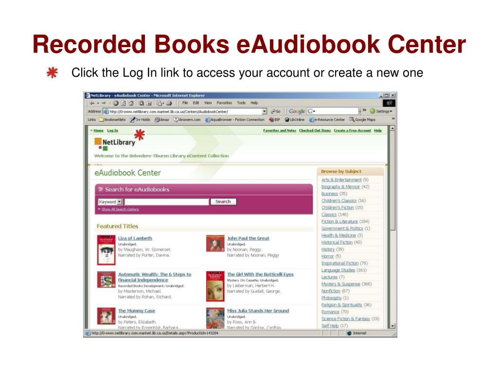 Recorded Books eAudiobook Center