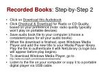 recorded books step by step 2