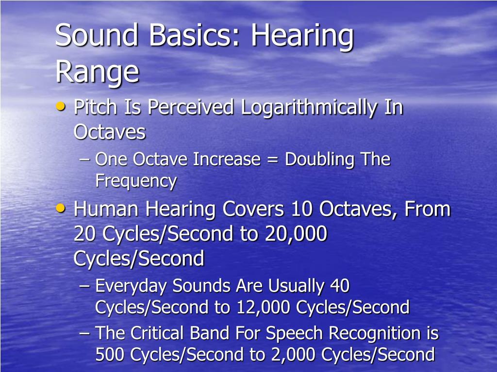 Sound Basics: Hearing Range