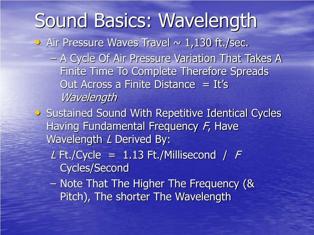 Sound Basics: Wavelength